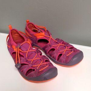 Keen Girls Size 3 Sandals Pink & Orange